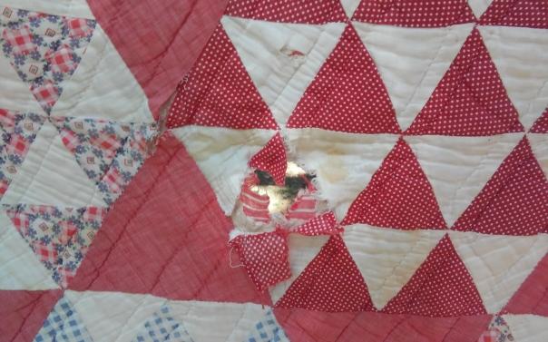 red triangle refurb closeup before